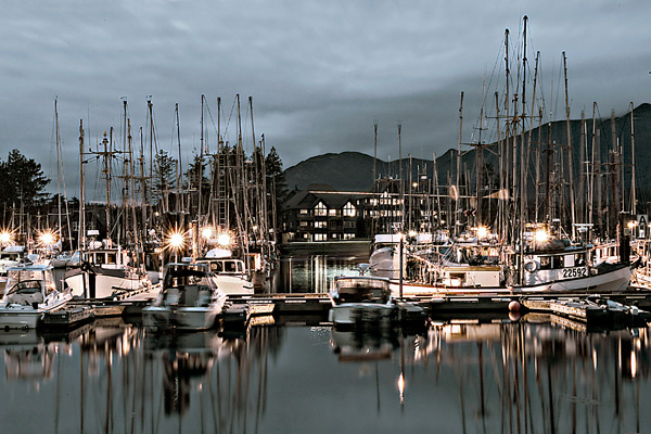Boats in Ucluelet Harbour on Vancouver Island
